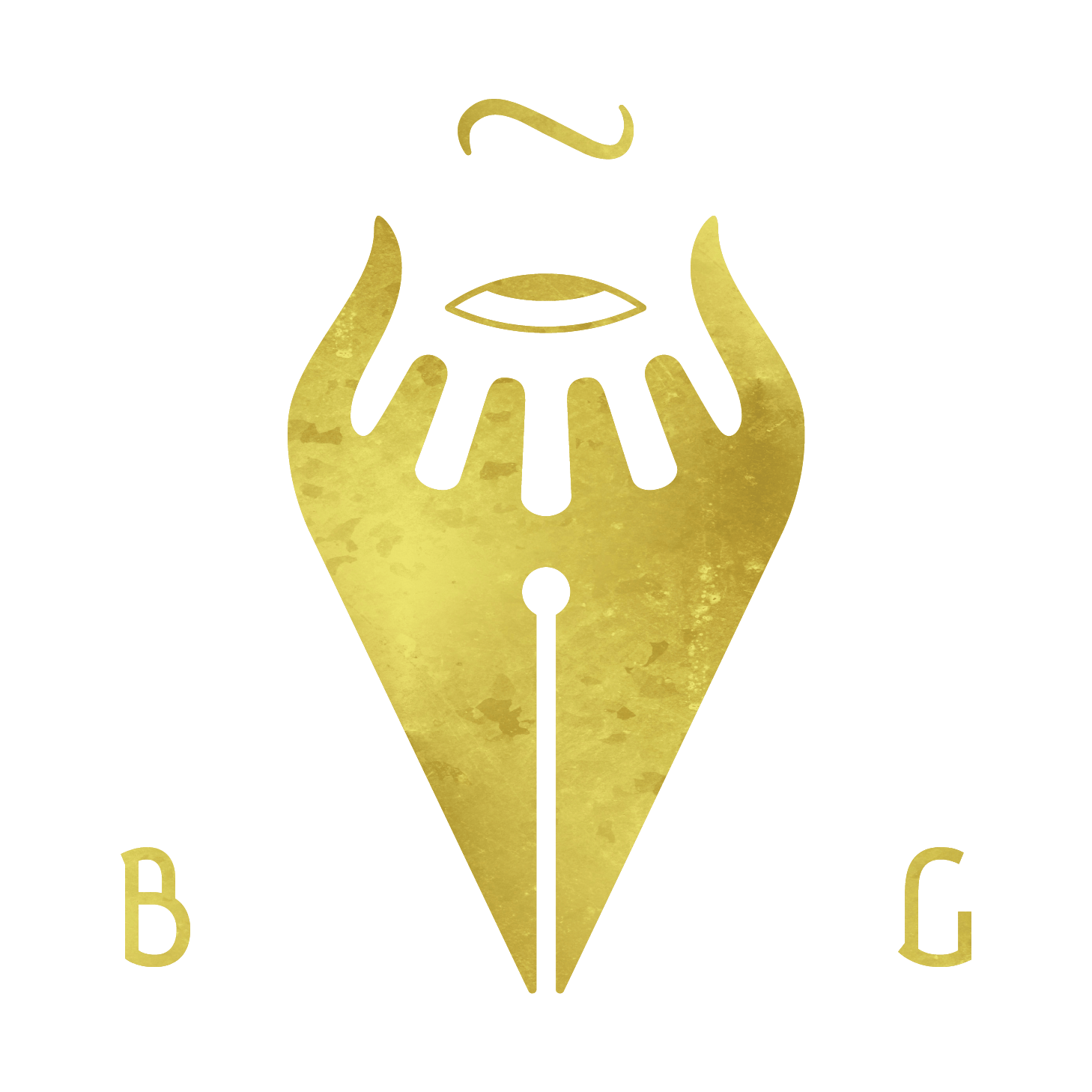 BGCre8 Gold foil logo
