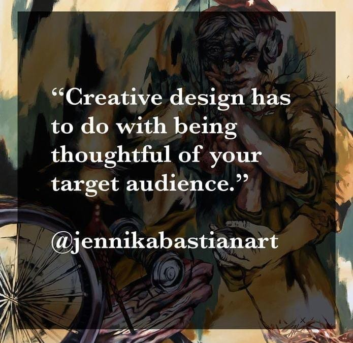 Creator of the Month March Quote from Jennika Bastian, Week 3